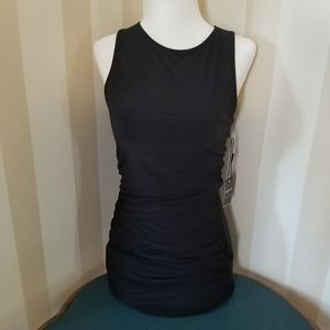 F21 black tight dress